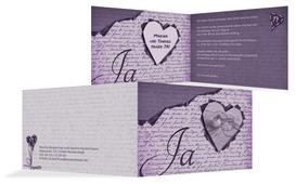 Einladung Herzensgedicht 2 - Lila (K19)
