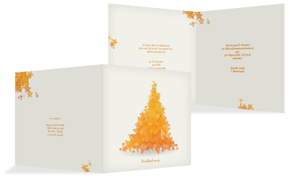 weihnachts einladungskarte gesch ftlich designerbaum. Black Bedroom Furniture Sets. Home Design Ideas