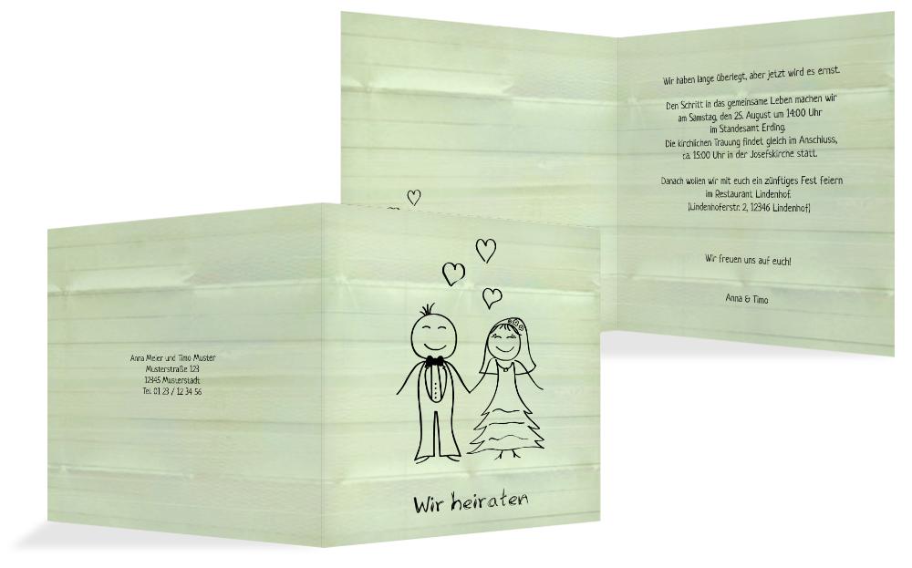 einladungskarte zur hochzeit sweet love kartenmanufaktur. Black Bedroom Furniture Sets. Home Design Ideas