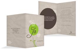 Hochzeitskarte Einladung Fantasyflower 2 - Grün (K20)