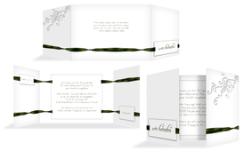 Einladungskarte Loop Label - Grün (K39)