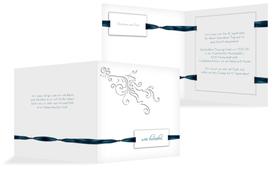 Einladungskarte Loop Label - Dunkelblau (K24)