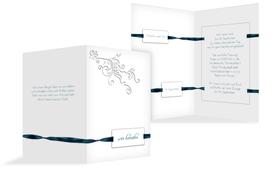 Einladungskarte Loop Label - Dunkelblau (K20)