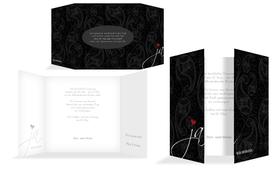 Einladungskarte Traumhochzeit 2 - Schwarz (K40)