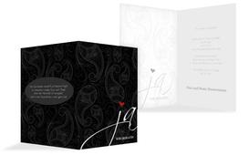 Einladungskarte Traumhochzeit 2 - Schwarz (K20)