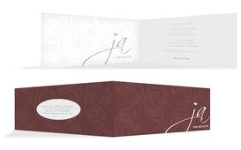 Einladungskarte Traumhochzeit 2 - Rot (K33)