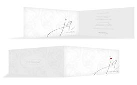 Einladungskarte Traumhochzeit 2 - Weiß (K33)