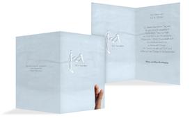 Einladung zur Hochzeit Fingerpaar 2 - Hellblau (K20)