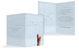 Dankeskarte Fingerpaar 2 - Hellblau (K20)