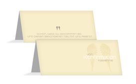 Tischkarte Konfirmation Schutzengel - Champagne (K32)