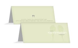 Tischkarte Konfirmation Schutzengel - Grün (K32)