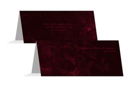 Tischkarte Hochzeit Liebespärchen - Rot (K32)
