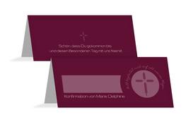 Tischkarte Konfirmation Gottes Wege - Rot (K32)