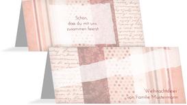 Weihnachts Tischkarte Geschenkpapier - Rot (K32)