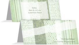 Weihnachts Tischkarte Geschenkpapier - Grün (K32)