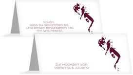 Tischkarte Hochzeit Tango - Rot (K32)