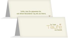 Tischkarte Taufe Vogel - Grün (K32)