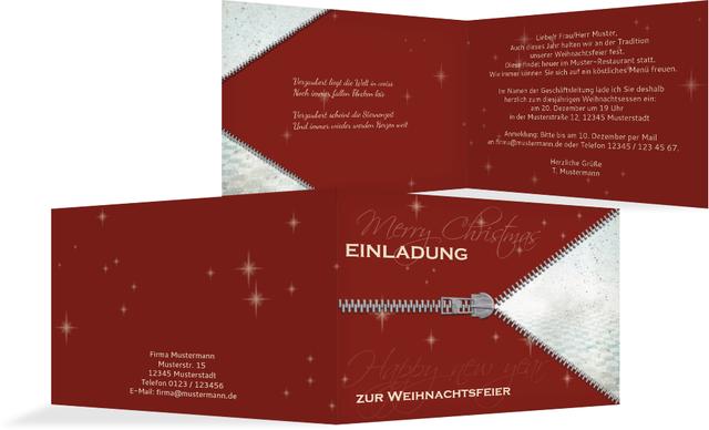 einladungskarten weihnachtsfeier – dressbuying, Einladung