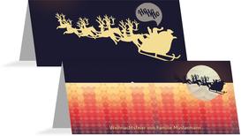 Weihnachtstischkarte Hohoho  - Rot (K32)