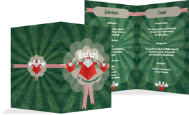 Weihnachtsmenükarte Origami - Grün (K38)