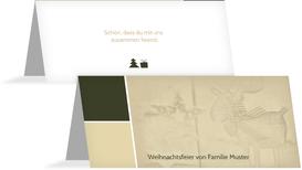 Weihnachtstischkarte Frohes Fest - Grün (K32)