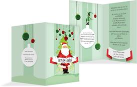 Weihnachtseinladung Wichtel - Grün (K20)