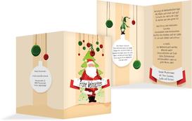 Weihnachtsgrußkarte Wichtel  - Orange (K20)