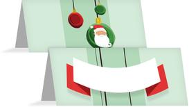 Weihnachtstischkarte Wichtel - Grün (K32)