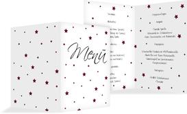 Weihnachtsmenükarte Sterne - Rot (K38)