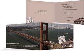 Einladungskarte zum Geburtstag old bridge - Rot (K19)