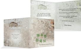 Einladung Striche an der Wand 30 - Grün (K24)