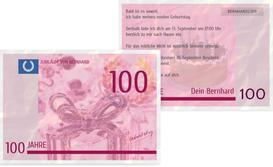 Einladungskarte zum Geburtstag Geldschein 100 - Pink (K25)