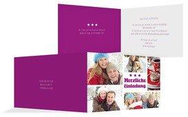 Weihnachtseinladung Bilder - Pink (K19)
