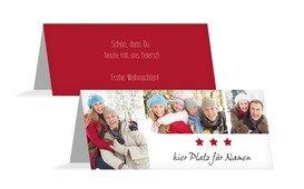 Weihnachtstischkarte Bilder - Rot (K32)