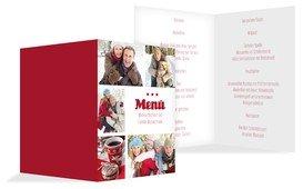 Weihnachtsmenükarte Bilder - Rot (K38)