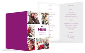 Weihnachtsmenükarte Bilder - Pink (K38)