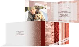 Weihnachts Grußkarte privat Geschenkpapier - Rot (K19)