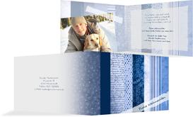 Weihnachts Grußkarte privat Geschenkpapier - Blau (K19)