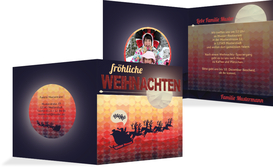Foto Weihnachtsgrußkarte Hohoho  - Rot (K24)