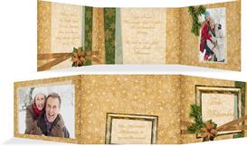 Foto Weihnachtsgrußkarte Goldenes Geschenk - Braun (K21)
