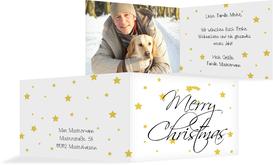 Foto Weihnachtsgrußkarte Sterne - Gelb (K19)