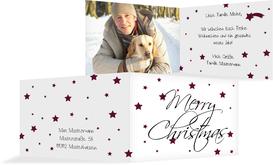 Foto Weihnachtsgrußkarte Sterne - Rot (K19)