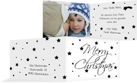 Foto Weihnachtsgrußkarte Sterne - Schwarz (K19)