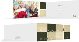 Foto Weihnachtsgrußkarte Frohes Fest - Grün (K33)