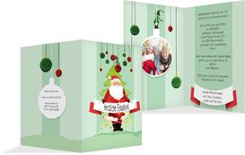 Foto Weihnachtseinladung Wichtel  - Grün (K20)