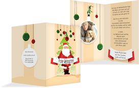 Foto Weihnachtsgrußkarte Wichtel   - Orange (K20)
