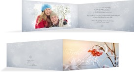 Foto Weihnachtsgrußkarte Reif - Hellblau (K33)