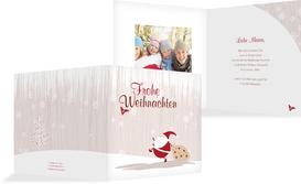 Foto Weihnachtsgrußkarte Weihnachtsmann - Braun (K24)