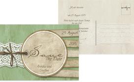 Save the Date Vintage Lace - Grün (K25)