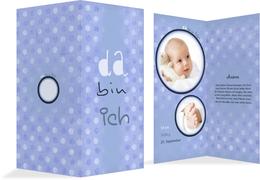 Geburtskarte da bin ich - Blau (K35)